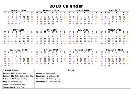 2018 Calendar With Holidays And Observances Calendar 2018 With Holidays 2017 Calendar