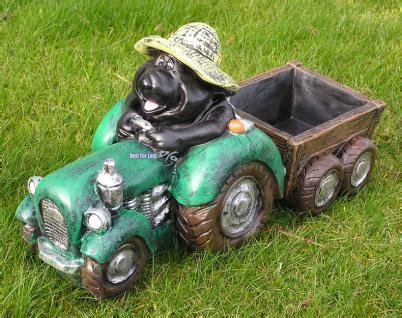 maulwurf auf traktor als gartenfigur kaufen bei helga freier