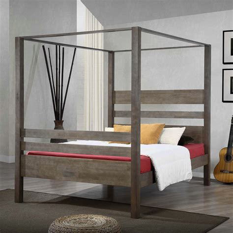 Marvelous Ideas For Build A Wood Canopy Bed Frame White Canopy Beds