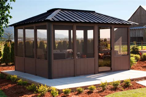 enclosed gazebo modern enclosed gazebo crowdbuild for