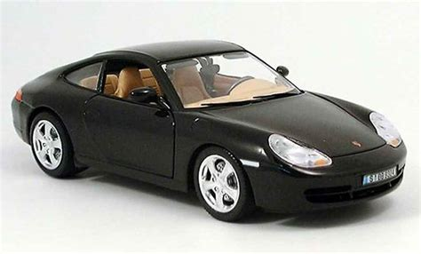 Porsche 996 Models by Porsche 996 4 Black Burago Diecast Model Car 1 18