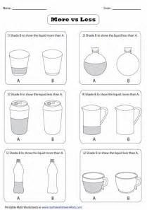 kindergarten weight and capacity worksheets weight