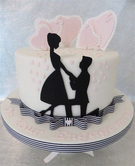 engagement cake ideas silhouette engagement cake by deborah cakesdecor