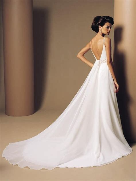 Backless Gown the sexiest backless chiffon wedding dresses cherry