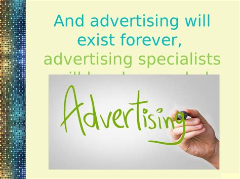 Advertising Specialist by My Future Profession Is Advertising Specialist презентация онлайн
