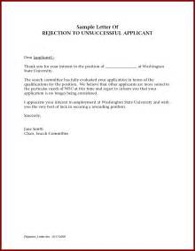 Rejection Letter Template For Applicants by Doc 12911666 Sle Applicant Rejection Letter 16