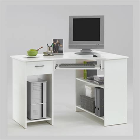 White Computer Corner Desk Felix Home Office Wooden Corner Computer Desk In Baltimore