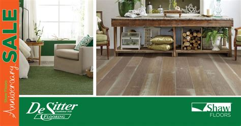 shaw floors 50th anniversary sale up to 1000 24 months financing desitter flooring