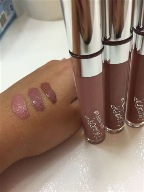 Colourpop Lip Matte Shade Midi colourpop ultra matte lip from l to r midi trap and