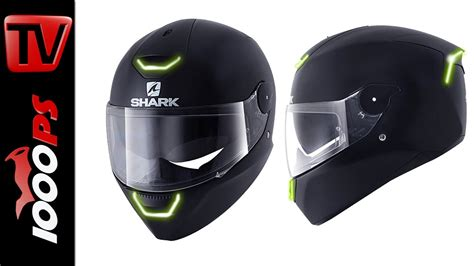Motorradhelm Led by Shark Skwal Led Beleuchteter Integralhelm