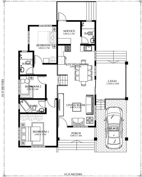 elevated house floor plans elevated one storey house plan amazing architecture magazine