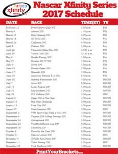 printable nascar xfinity series schedule 2017