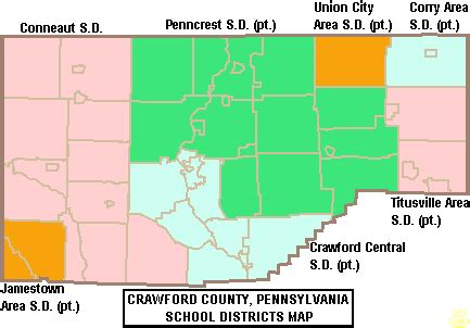 pennsylvania school district map central school district