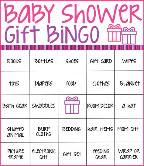 templates for baby shower bingo baby shower bingo cards real housemoms regarding baby