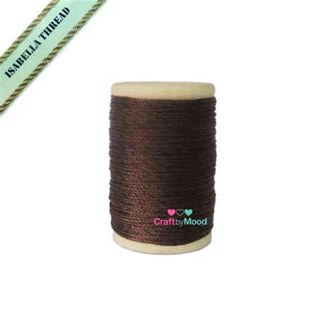Rounded Wax Thread Benang Lilin Bulat Diameter 0 6 Mm polyester wax brown color diameter 0 95mm