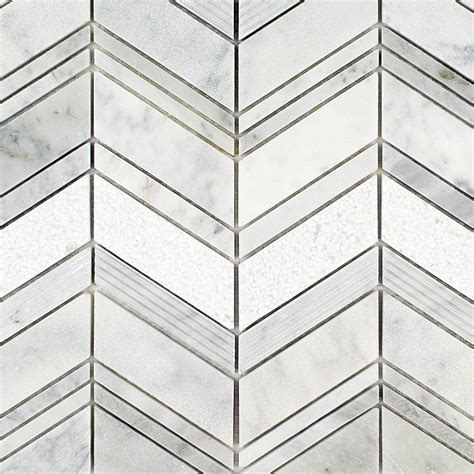 marble mosaic tile splashback tile dart winged carrera 11 3 4 in x 11 3 4 in