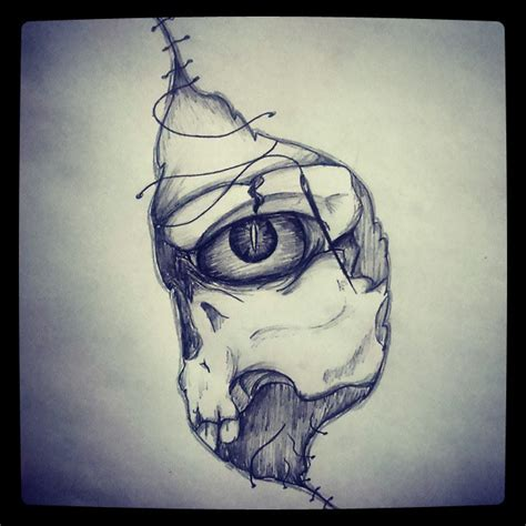 skull evil drawing dark on instagram