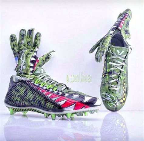 custom football shoes nfl players stepped up their cleat complex