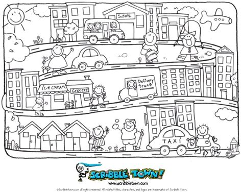 Scribble Blog Inspiring Creativity 187 Coloring Page Town Coloring Pages