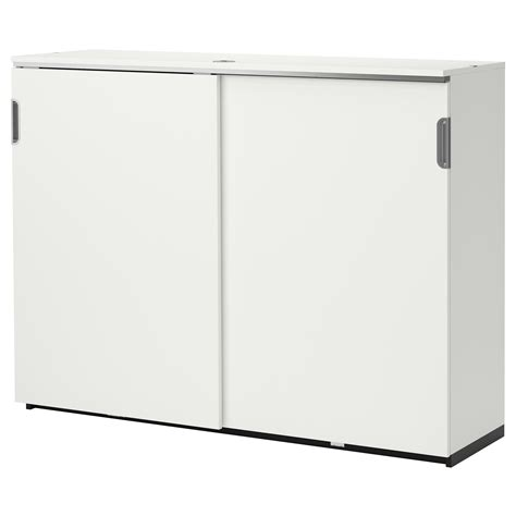 Ikea White Storage Cabinet Galant Cabinet With Sliding Doors White 160x120 Cm Ikea