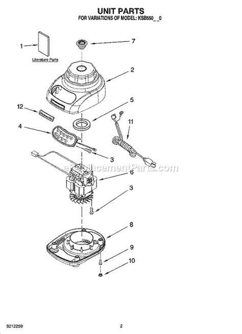 Kitchenaid Order Status Kitchenaid Ksb550mc0 Parts List And Diagram