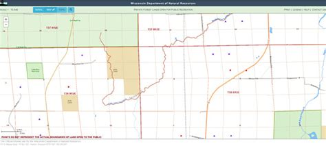 wi dnr land map forest lands open to recreation web mapping