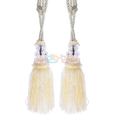 curtain tassel tie backs 2x crystal tassel beaded tiebacks window curtain fringe