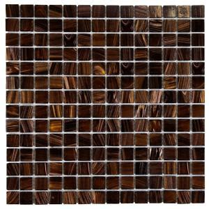 Merola Tile Coppa Brown Gold 12 in. x 12 in. x 4 mm Glass