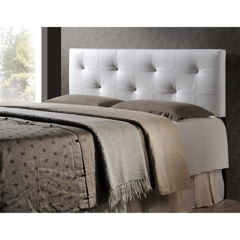 White Upholstered Headboard by Baxton Studio Kirchem White Modern Upholstered Headboard