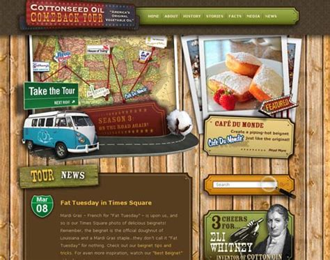 50 really cool retro vintage style websites for