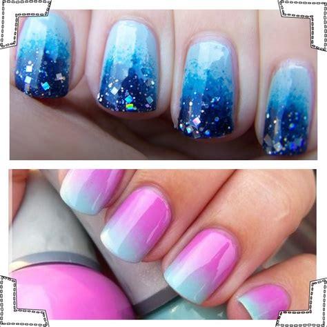 tutorial nail art ombre easy ombre nails tutorial partysuppliesnow com au
