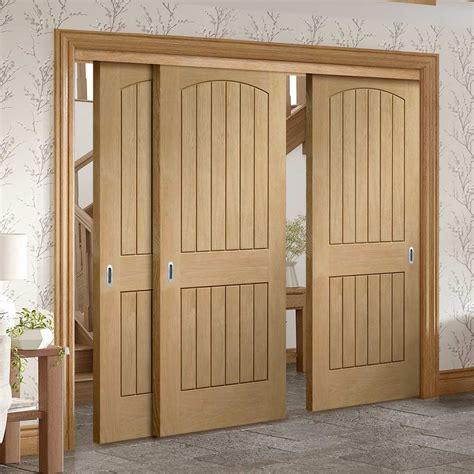 sliding doors  frame kit sussex oak door