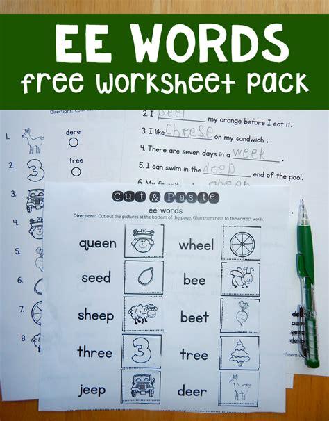 ee pattern words free ee worksheets the measured mom