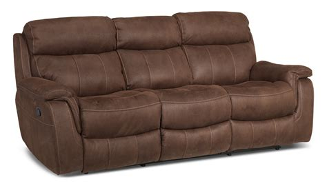 recliners sofas morrow reclining sofa saddle brown leon s