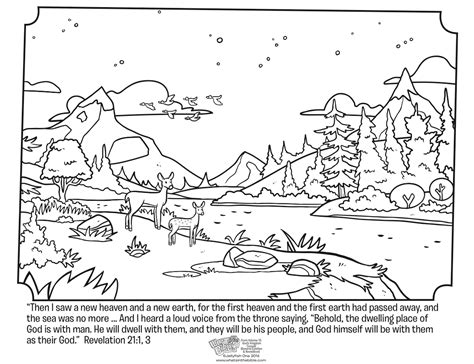 revelation 21 coloring page whats in the bible