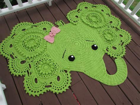 Elephant Rug For Nursery Crochet Pattern by Crochet Elephant Rug Elephant Nursery Decor Made To Order