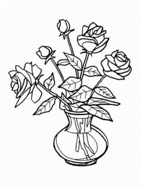 Vase With Flowers Coloring Page Sch 246 Ne Ausmalbilder Malvorlagen Vase Mit Blumen Ausdrucken 2