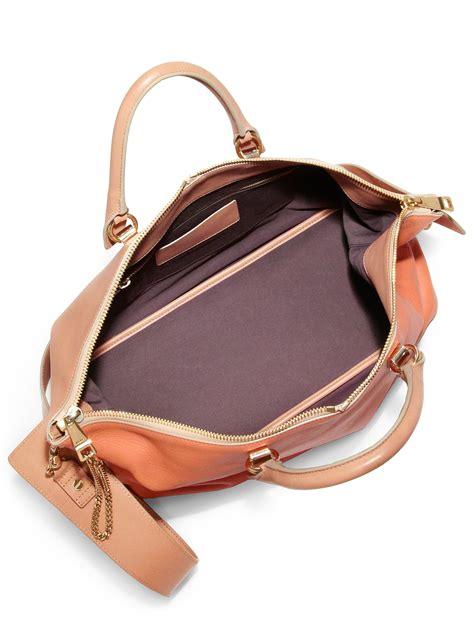 J H Cloe Tote Bag chlo 233 baylee medium bicolor shoulder bag in orange lyst