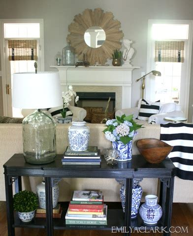 styling a sofa table styling a new to me console table emily a clark