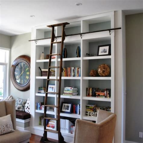 bookcase with ladder built ins bookcases pinterest