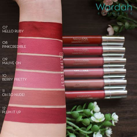 Harga Wardah Matte Lip No 4 1 1 wardah exclusive matte lipcream wardah lip