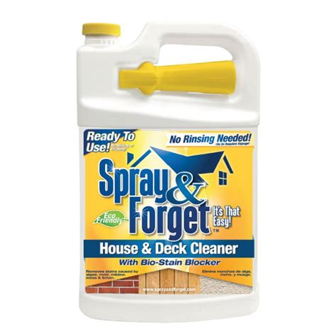 spray forget  gal house  deck cleaner outdoor mold
