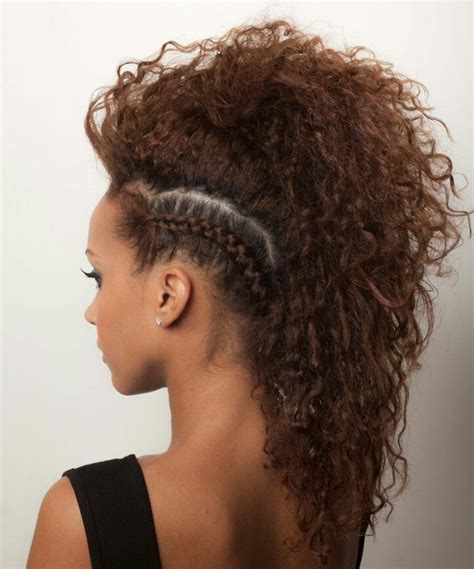 Mohawks With Tight Human Hair Curls | best 25 curly mohawk hairstyles ideas on pinterest