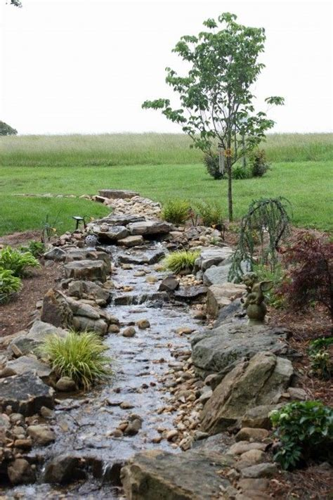 creek bed perfect for water drainage after a storm would look