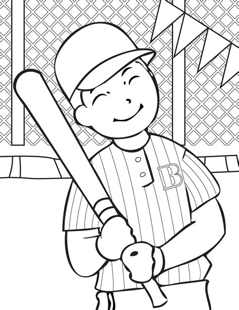 Pictures To Coloring Page free printable baseball coloring pages for best coloring pages for