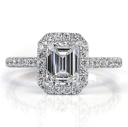 2 10ct emerald cut engagement ring