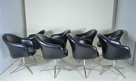 set of 8 barrel swivel dining chairs circa 1970s at 1stdibs