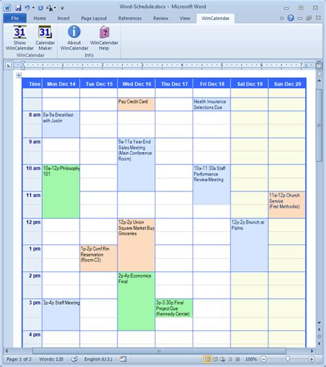 calendar schedule template word calendar creator for microsoft word with holidays