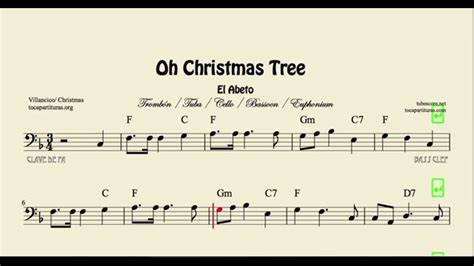 oh christmas tree sheet music for trombone cello bassoon