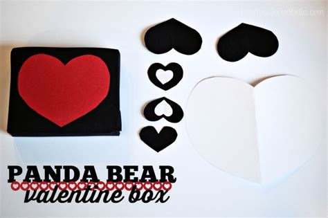 panda valentines day simple panda box for